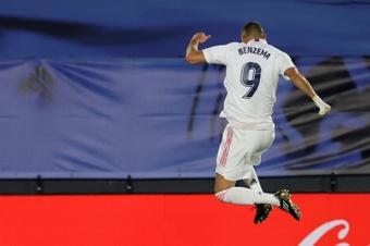 Benzema fue el protagonista de la victoria ante el Athletic. EFE