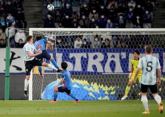 Gaich, en plena forma, hizo el gol de los albicelestes. EFE
