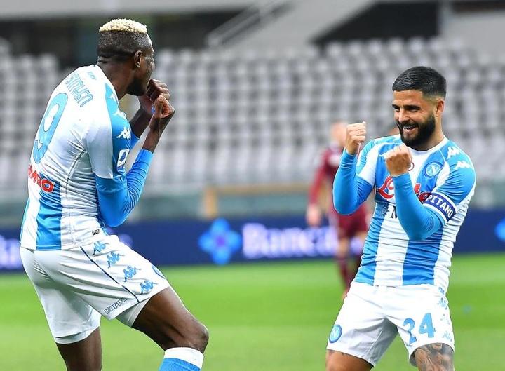 El Nápoles exhibe sus ganas por acariciar la Champions. EFE/EPA