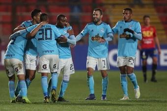 Sporting Cristal logró una importante victoria gracias al doblete de Hohberg. EFE
