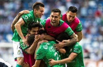 Santos Laguna empató a uno ante Monterrey. EFE