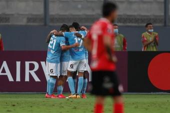 Sporting Cristal ganó 2-0 a Rentistas. EFE