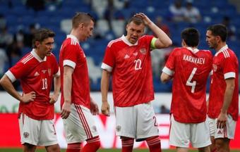 Artiom Dzyuba analizó el Bélgica-Rusia. EFE