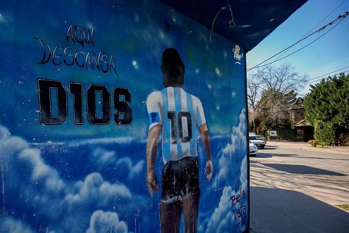 Así luce el barrio de Maradona. EFE