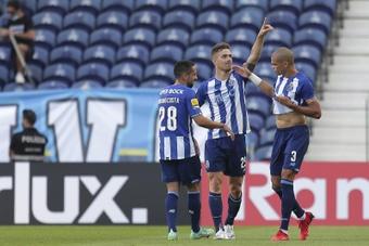 Toni Martínez, a seguir goleando en una Liga Lusa con acento español. EFE