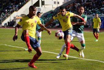 Barrios habló tras el empate ante Bolivia. EFE