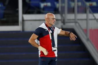 Luis de la Fuente llevó a España a la plata olímpica en Tokio 2020. EFE/Archivo