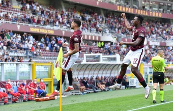 El Torino goleó en el estreno de Ribéry. EFE