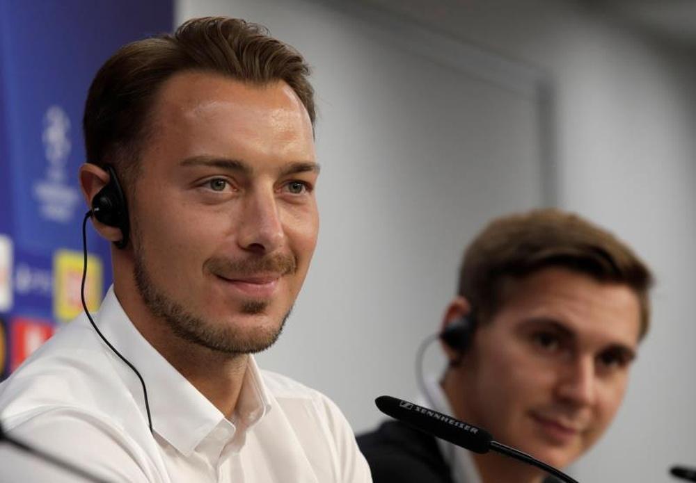 Matthias Jaissle trasladó la ilusión de sus jugadores por jugar la Champions League. EFE