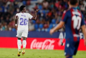 Vinicius parece haberse quitado de encima la presión que le atenazaba. EFE/Archivo
