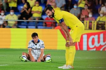 El Villarreal logró empatar ante el Atalanta. EFE
