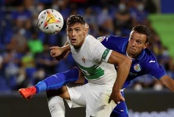 Lucas Boyé tiene complicado llegar al choque ante el Levante. EFE