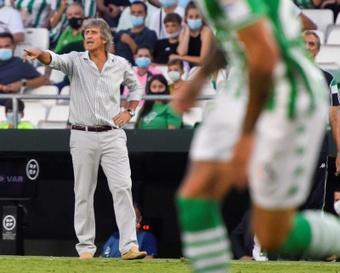 Pellegrini habló del actual momento del Betis. EFE