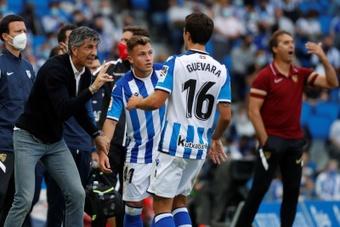 Imanol confía en la victoria pese a las bajas de Isak y Silva. EFE