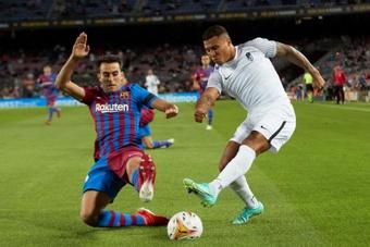 Robert Moreno confirmó que Machís, pese a no entrenar, estará en Vigo. EFE
