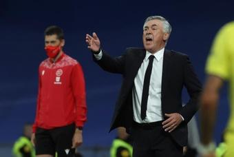 Ancelotti compareció en rueda de prensa antes del partido frente al Sheriff. EFE