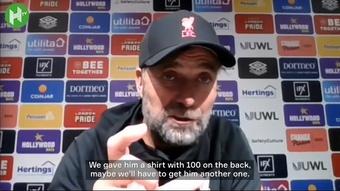 Jurgen Klopp was full of praise for Mo Salah. DUGOUT