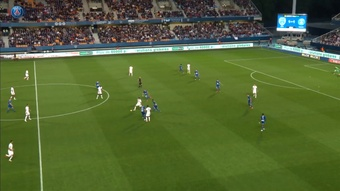 Icardi marcó el 1-2 ante el Troyes. Captura/Dugout