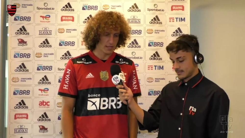 David Luiz agradece oportunidade por defender o Flamengo.