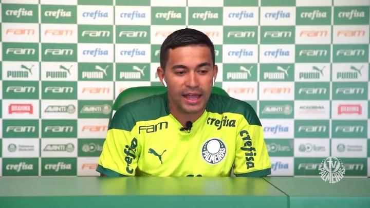 Dudu concedeu uma entrevista coletiva para os sócios do Palmeiras.. DUGOUT