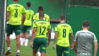 Palmeiras segue em forte preparação.