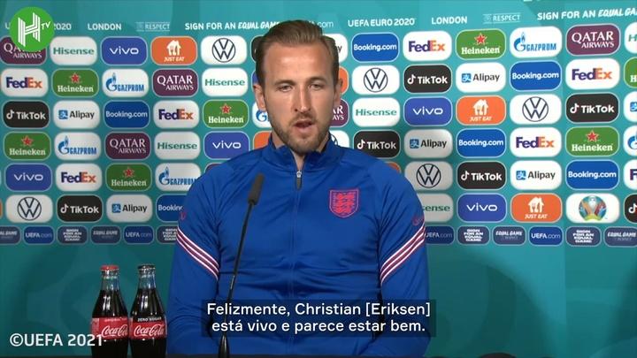 Harry Kane falou sobre o incidente de Christian Eriksen. DUGOUT