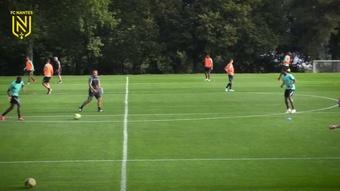 Le FC Nantes prépare le match d'Angers. Dugout