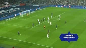 Draxler's decisive tackle vs Strasbourg. DUGOUT