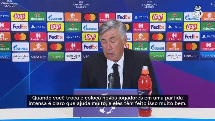 Ancelotti enaltece esforço dos jogadores.