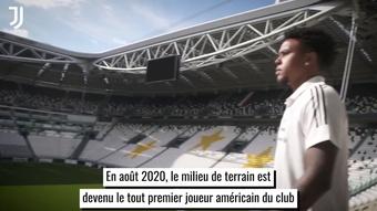 Les débuts de Weston McKennie à la Juventus. dugout