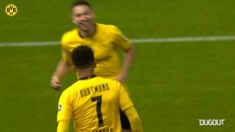 Jadon Sancho and Erling Haaland got braces in the German Cup final. DUGOUT