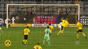 Erling Haaland has scored some crackers against Gladbach in the past. DUGOUT