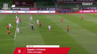 VIDÉO: Le doublé d'Esther González contre la Pologne. Dugout
