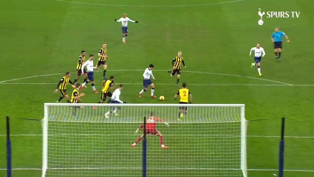 I gol di Heung-Min Son contro il Watford. Dugout