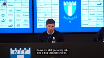 Steven Gerrard retained hope after Rangers lost 2-1 to Malmo. DUGOUT