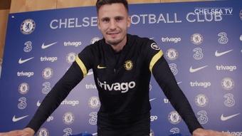 Saúl Ñíguez si allena con il Chelsea. Dugout