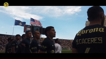 Club America defeated Santos Laguna by a solitary goal. DUGOUT