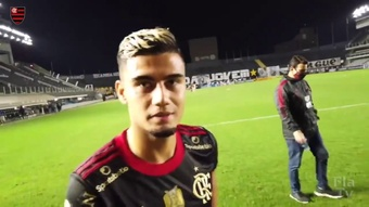 Andreas Pereira vibra com gol.