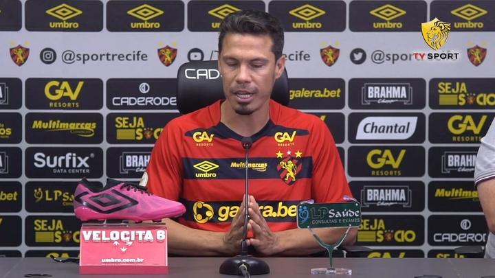Hernanes fala em qual posição pretende jogar no Sport. DUGOUT