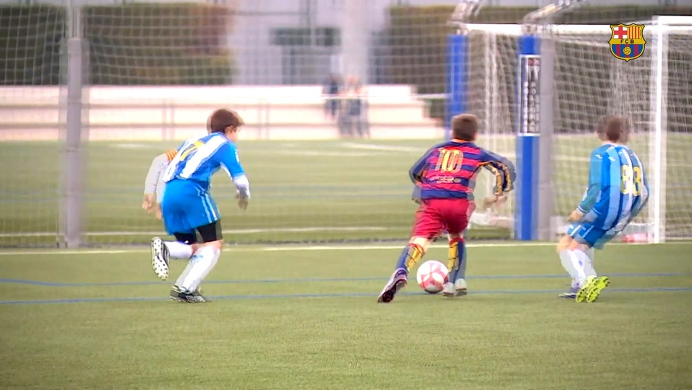 Gavi, una estrella del Barça desde niño. DUGOUT