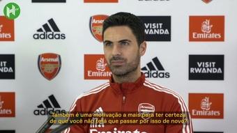 Arteta diz que é doloroso ver o Arsenal fora das competições europeias. DUGOUT