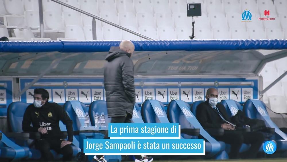 La prima stagione di Sampaoli nel Marsiglia. Dugout
