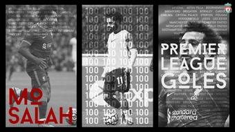 Salah alcanzó las 100 dianas ante el Leeds United. DUGOUT