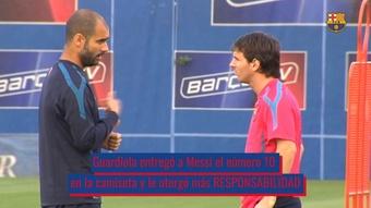 Pep cambió a Messi y Leo ayudó a Guardiola a ganar todo. DUGOUT