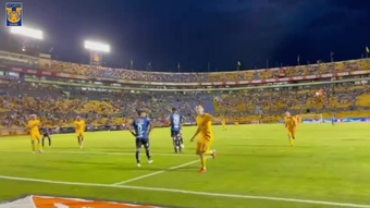 Florian Thauvin scored his first Tigres goal since moving from Marseille. DUGOUT