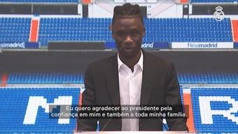 Camavinga em apresentação no Real Madrid. DUGOUT