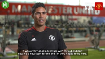 Varane's first interview as a Manchester United player. DUGOUT