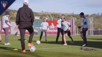 Liga de Quito se entrena en Porto Alegre. Captura/DUGOUT