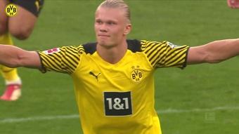 Haaland estrenó la temporada con un doblete al Eintracht. Dugout