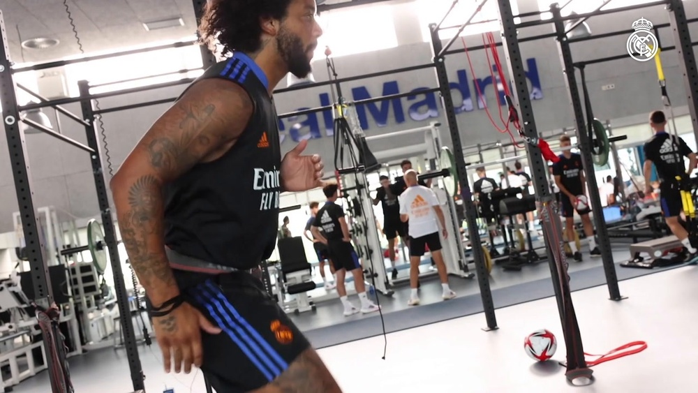 Real Madrid continued with pre-season training. DUGOUT
